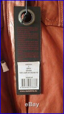 Blouson, veste en cuir Redskins, taille L, couleur marron