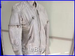 Blouson veste en cuir blanc OAKWOOD TL
