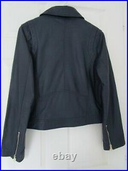 Blouson veste femme en cuir CYRILLUS NEUF