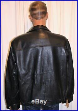 Blouson veste homme CHAPS RALPH LAUREN cuir noir taille XL