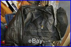 Blouson veste motard moto en cuir vintage biker caferacer LOUIS taille L