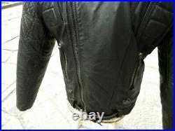 Blouson veste moto cuir noir vintage biker caferacer custom taille XL