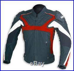 Blouson veste moto en cuir NEUF S M 2XL 3XL 4XL rouge 48 50 56 58 60
