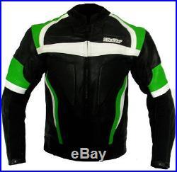 Blouson veste moto en cuir vetements NEUF 2XL 3XL 4XL 56 58 60 vert KAWASAKI