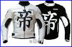 Blouson veste moto en cuir vetements NEUF M L XL XXL 3XL 4XL 5XL noir blanc