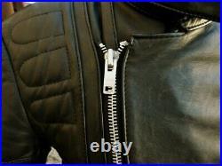 Blouson veste moto en cuirnoir vintage biker caferacer hein gericke perfecto M