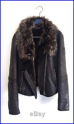 Blouson veste peau lainée VENTCOUVERT T. 40 mais 38 mouton retourné sheepskin