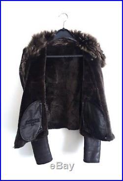 Blouson veste peau lainée VENTCOUVERT T. 40 mais petit donc 38 mouton retourné