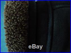 Blouson veste peau lainee mouton cuir noir 38 / 40