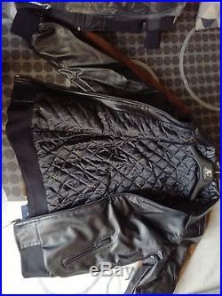 Blouson veste printemps/été Cuir d'agneau noir Homme taille L pas armani