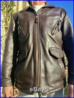 Blouson veste vintage Schott, made in USA taille 42/ L en cuir épais mais souple