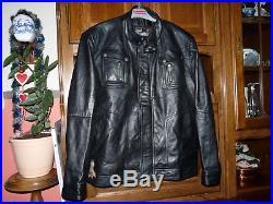 Blousons veste en cuir, style motard brando style biker real leather