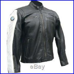 Bmw Courses Biker Cuir Veste Vêtement En Cuir Motorbike Moto Cuir Veste Eu 54,60