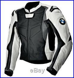 Bmw Hommes Biker Cuir Veste Moto Cuir Veste Vêtement En Cuir Motorbike Eu 52