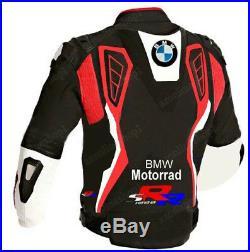 Bmw Vêtement En Cuir Motorbike Hommes Biker Cuir Veste Moto Cuir Veste Eu 50,60