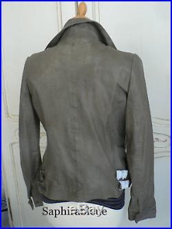 Bradée! Veste blouson cuir agneau IKKS Woman T. M / 38 neuf 450