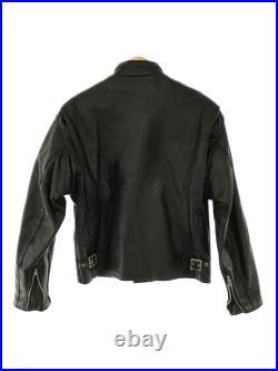 Brocante Schott Veste Cuir Blouson / 40 / Cuir / Noir / Uni pour Hommes