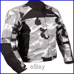 Buffalo Camo Veste Moto Étanche Cuir Textile Hiver Touring
