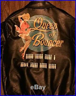 Buzz Rickson's Bouncer W Nom A-2 Veste Cuir Blouson Homme Taille 40 Reine