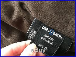 CHEVIGNON veste blouson T. L 100 % CUIR VACHETTE MARRON homme achat immédiat