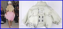 COMME DES GARCONS Runway Leather blouson jacket veste cuir baseball SIZE M