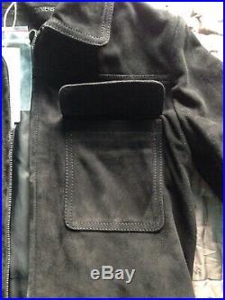 COMPTOIR DES COTONNIERS Blouson/veste daim/cuir velours Noir FR38=36 NEUF