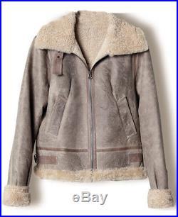 COMPTOIR DES COTONNIERS Sold out Veste blouson aviateur cuir peau mouton 34