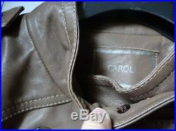 Caroll Blouson Veste Femme Neuf 100% Cuir Entierement Double Marron Taille 40