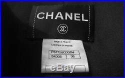Chanel, Veste, Biker, Blouson Cuir Dagneau Noir T36 Fr