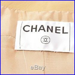 Chanel Veste en Cuir Gr. S Beige Veste Femme Veste en Cuir Blouson Cuir