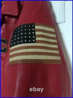 Chevignon Rare Veste Blouson Cuir Veritable Vintage Che 1990 Leather Jacket