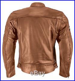 Classic Veste de moto en cuir vintage, rétro chopper Blouson moto marron gr. S