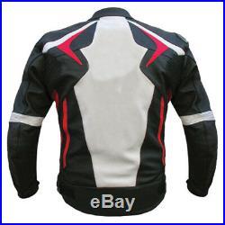 Cuir Biker Veste Hommes Moto Cuir Veste Courses Sports Cuir Veste EU 50-60