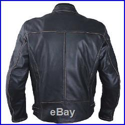 Cuir Blouson Moto Veste Vintage Style Thermique Protections CE