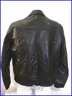 Cuir buffle REDSKINS taille L / XL veste Blouson noir motard homme