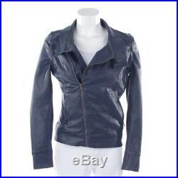 DESIGUAL Blouson motard Gr. DE 34 ES 36 Bleu Femmes Veste Simili-cuir