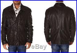 DEVRED veste Blouson en Cuir pour Homme Taille XL NEUF
