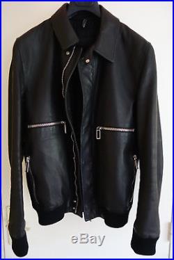 Blouson Jacket Cd M 50 Veste Zip Cuir Homme R Leather Dior Black Col wRAtx