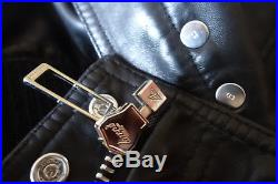 cc2ce6167ee DIOR HOMME Blouson Veste Jacket Cuir Leather Black 50 M Col R Zip CD AW09  FW09
