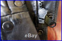 DIOR HOMME Blouson Veste Jacket Cuir Leather Black Biker France 46 S M Zip SS09