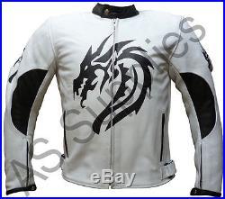 DRACO neXus Dragon Veste de Moto en Cuir Blouson Motard Toutes tailles