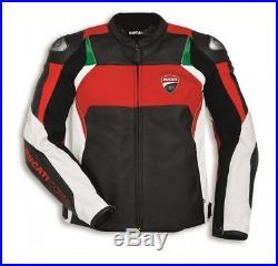 DUCATI CORSE C3 DAINESE veste en cuir noir blouson moto cuir NEUF