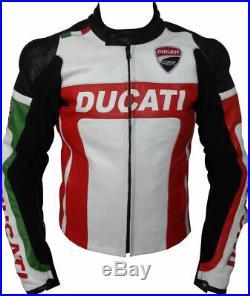 DUCATI Courses Vetement En Cuir Motobike Biker Cuir Veste Hommes Moto Cuir Veste