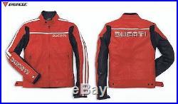 DUCATI DAINESE 80'S Veste/blouson en cuir gr. 50 BLOUSON MOTO VESTE ROUGE NEUF