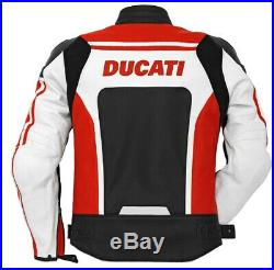 DUCATI Vert Vetement En Cuir Motobike Hommes Biker Cuir Veste Moto Cuir Veste 50