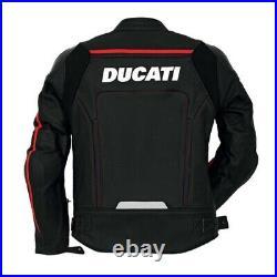DUCATI Veste de Motard en Cuir Veste en Cuir Motard Veste en Cuir de Moto 52,58