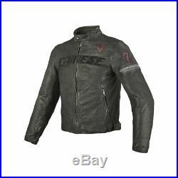 Dainese Archivio Cuir Homme Moto Veste Noir Seven 34 USA / 44 Euro