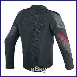 Dainese Mig Cuir Textile Veste Noir/Rouge Taille 48 Moto Été Sport Hommes