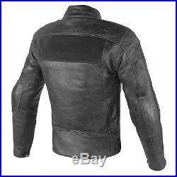 Dainese Rayures D1 Veste en Cuir Noir Taille 52 Vintage Brouilleur Classic Veste