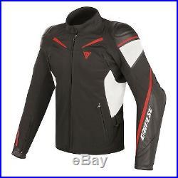 Dainese Street Maître en Cuir Blanc Veste Taille 56 Jacket Sport Moto Veste